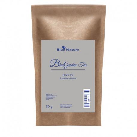 Czarna herbata Strawberry Cream Blue Garden