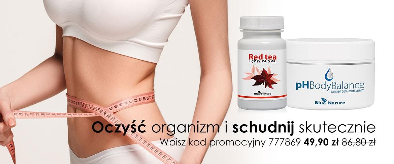Zestaw: Czerwona herbata z chromem w kapsułkach + pH Body Balance